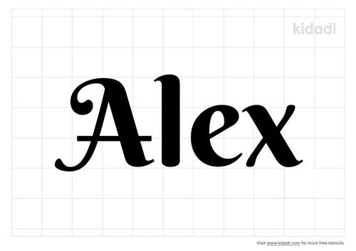 alex-stencil