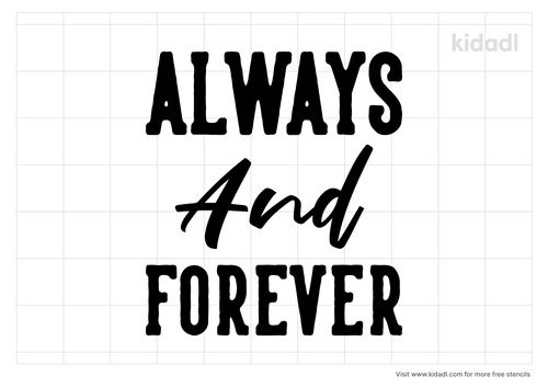 always-and-forever-stencil