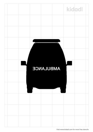 ambulance-front-stencil