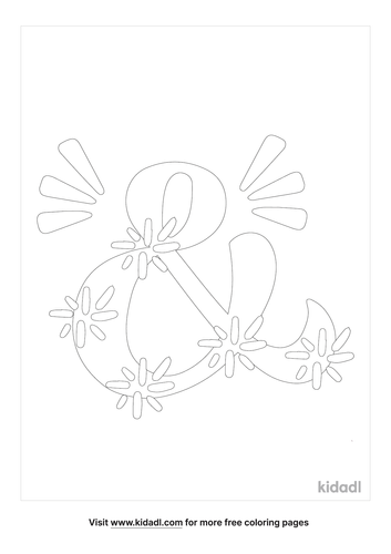 ampersand-coloring-page