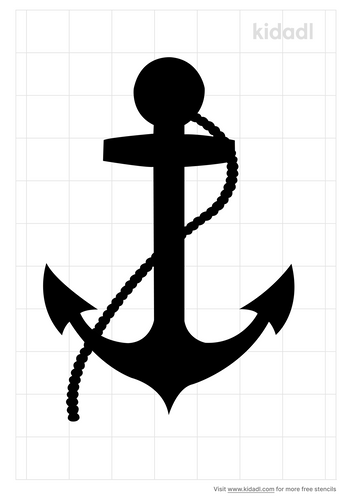 anchor-and-rope-stencil