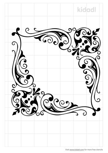antique-flower-stencil