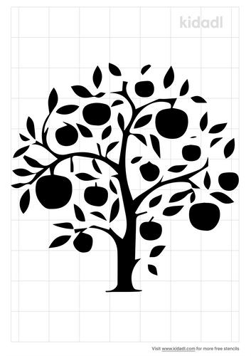 apple-tree-stencil