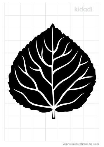 aspen-leaf-stencil
