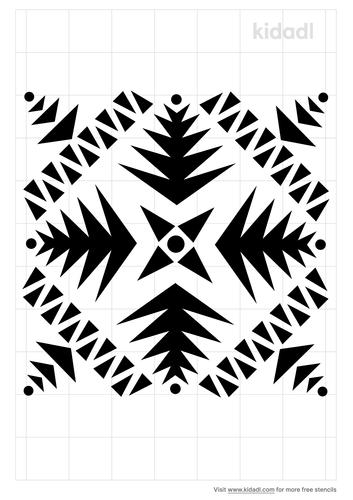 aztec-pattern-stencil