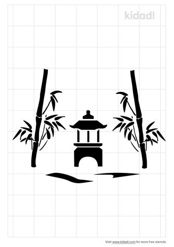 bamboo-iris-lantern-Stencil.png