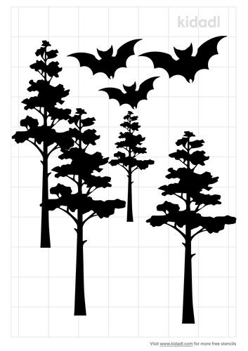 bats-in-woods-stencil