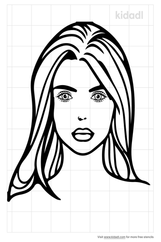beautiful-girl-face-stencil