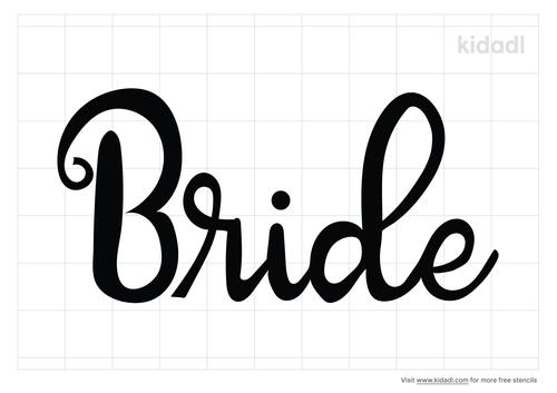 bride-stencil