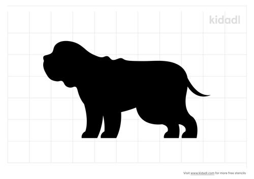 bulldog-side-stencil-png