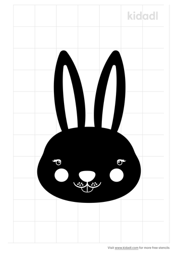 bunny-with-big-ears-stencil-png