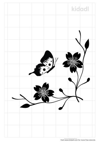 butterfly-corner-stencil
