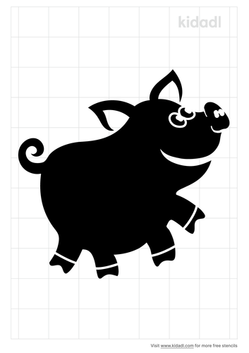 cartoon-pig-stencil