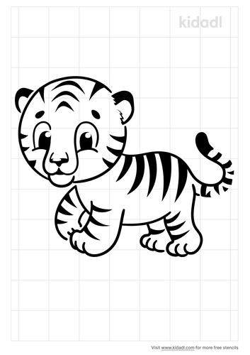 cartoon-tiger-stencil