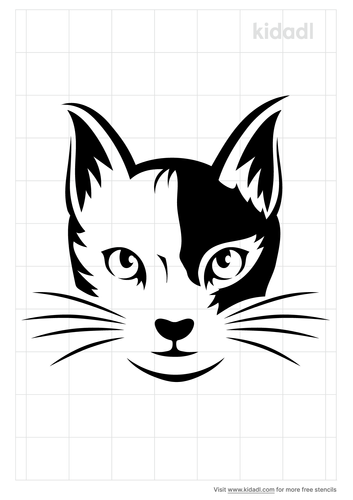 cat-head-stencil