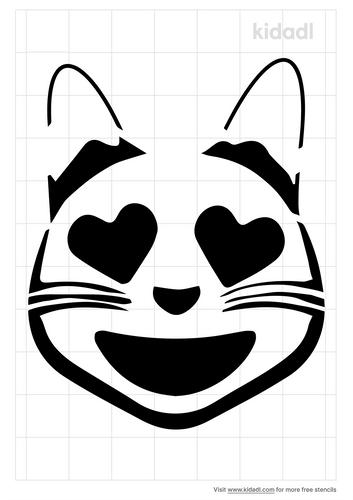 cat-heart-eye-emoji-stencil