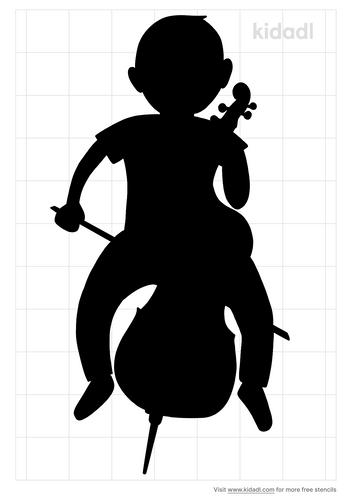 cello-player-stencil