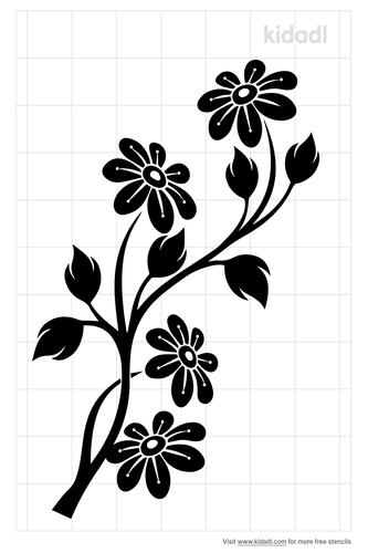cherry-blossom-flower-stencil