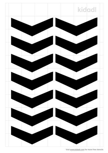 chevron-arrow-stencil