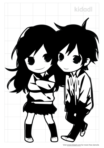 chibi-couple-stencil