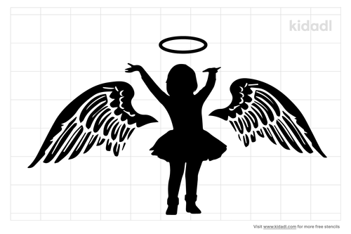 child-halo-with-wings-stencil