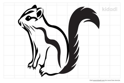 chipmunk-stencil