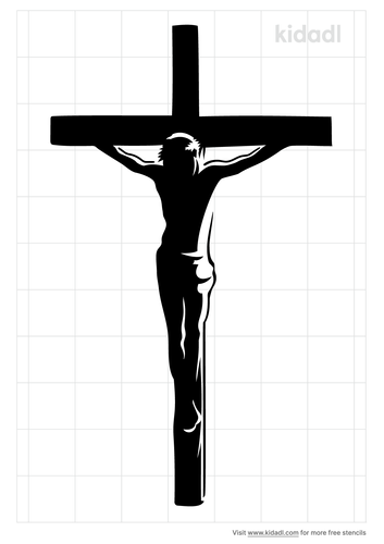 christ-on-the-cross-stencil