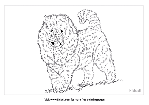 chusky-coloring-page