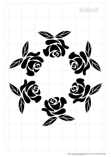 circle-of-roses-stencil