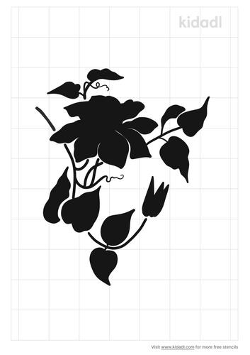 clematis-stencil