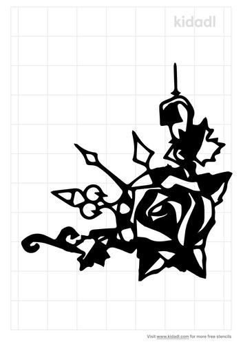 clockwork-rose-stencil