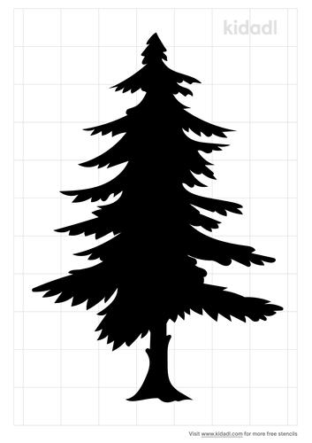 conifer-stencil