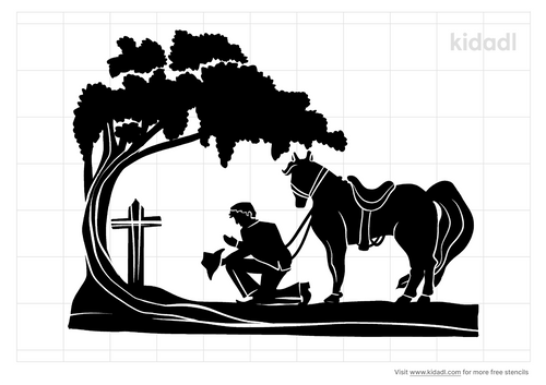 cowboy-kneeling-at-cross-with-horse.png