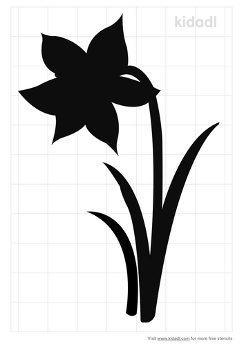 daffodil-stencil