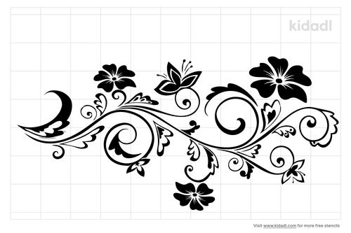 daisy-border-stencil