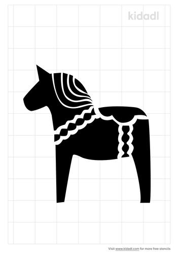 dala-horse-stencil