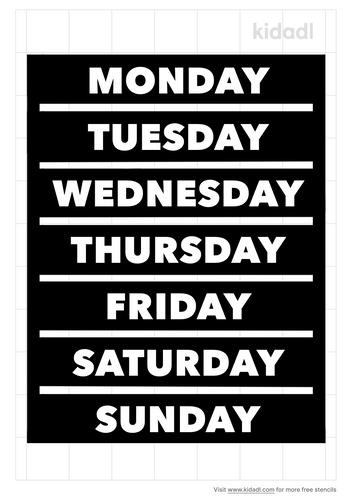 days-of-the-week-stencil