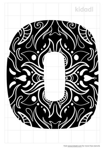 decorative-letter-o-stencil