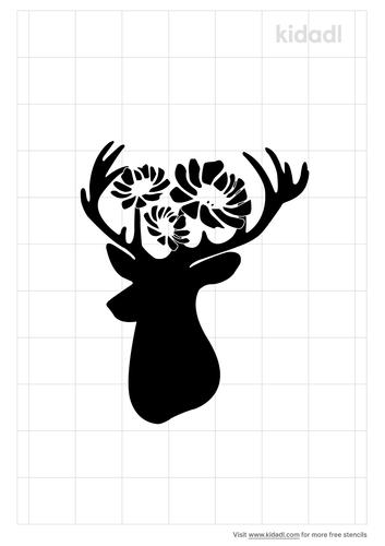 deer-head-and-flowers-watercolor-stencil.png