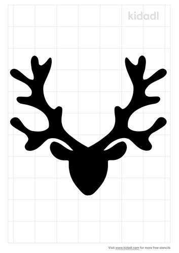 deer-head-christmas-stencil