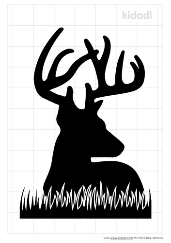 deer-head-with-grass-stencil.png