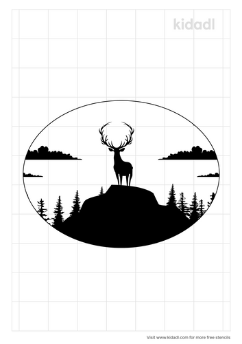 deer-in-mountains-oval-stencil.png