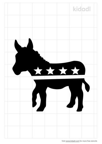 democrat-donkey-stencil