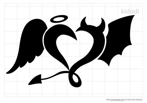 devil-angel-heart-stencil
