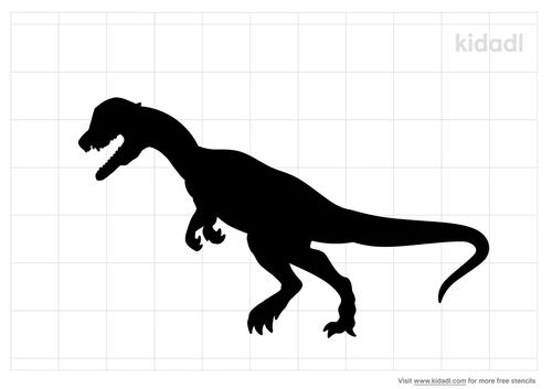 dilophosaurus-stencil