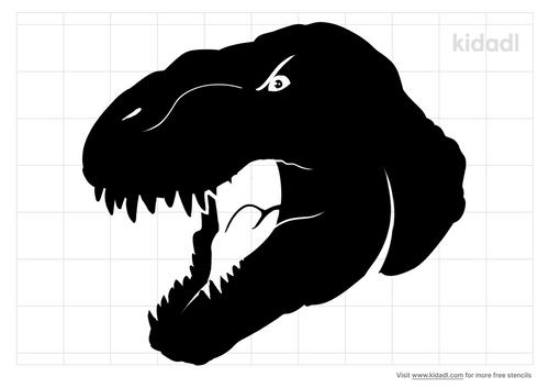 dinosaur-head-stencil