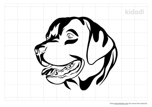 dog-face-stencil