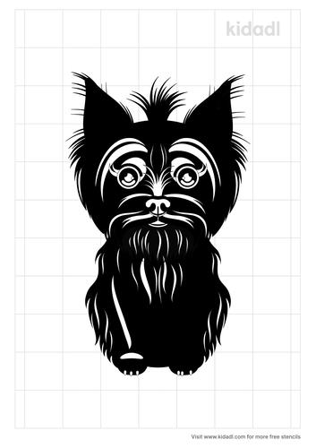 dog-yorkies-stencil