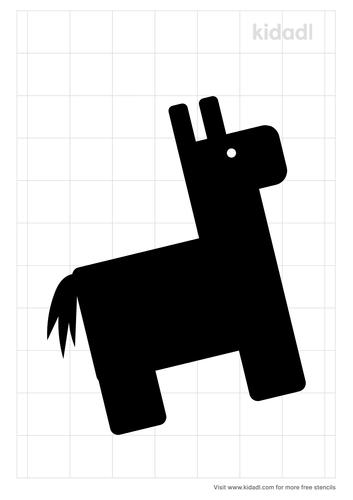donkey-pinata-stencil