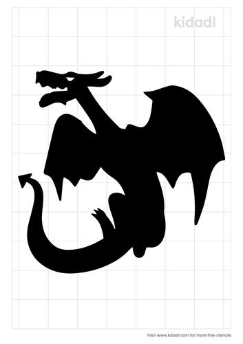 dragon-flying-stencil